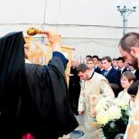 Slujire arhiereasca in Biserica Buna Vestire